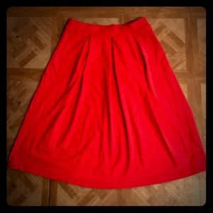 NWOT: Cynthia Rowley Midi Pleated Skirt- Medium